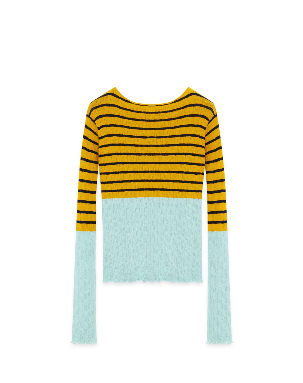 STRIPED KNIT TOP - Lanvin