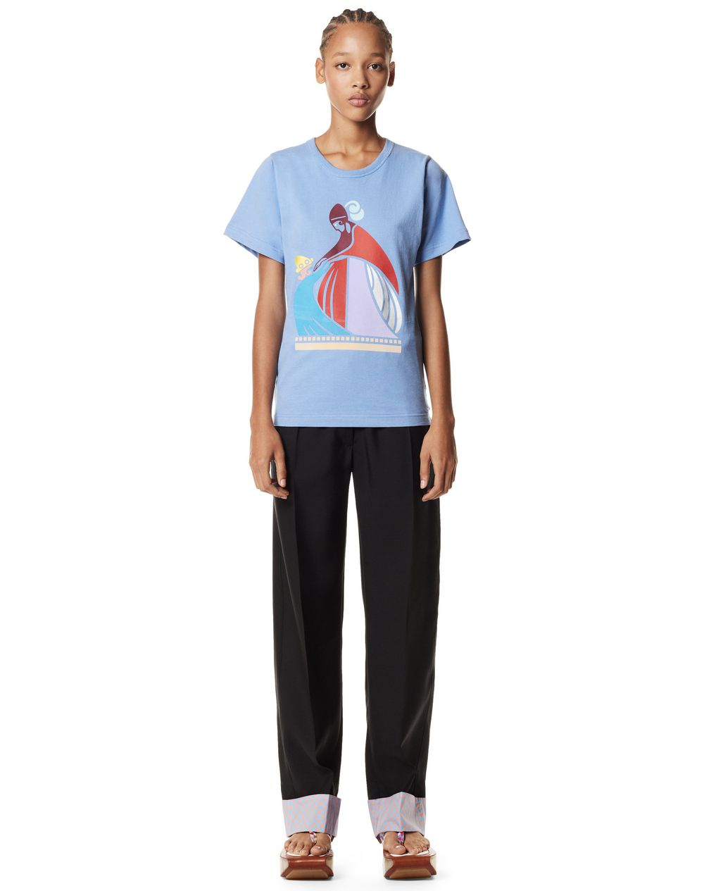 MOTHER AND CHILD PRINT T-SHIRT - Lanvin