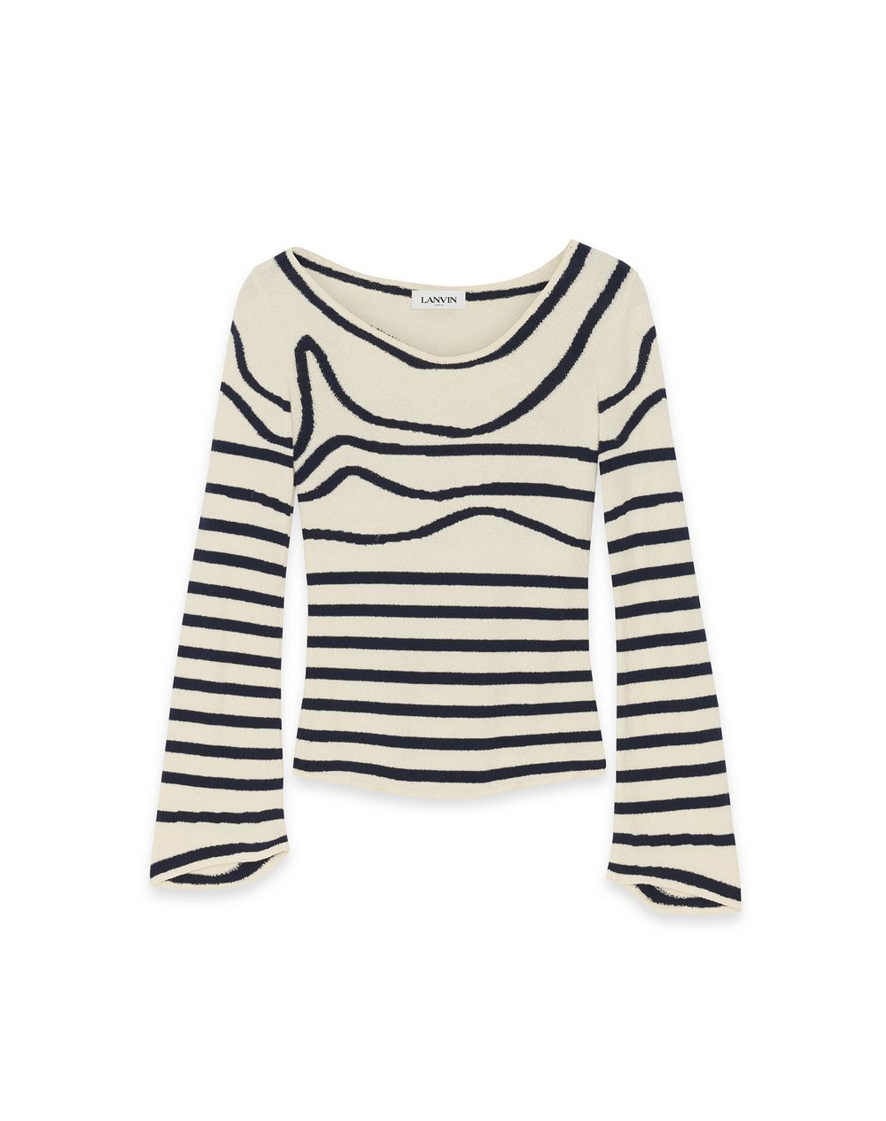 LARGE NECK STRIPED SWEATER - Lanvin