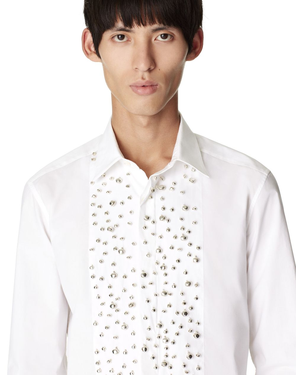 FITTED SHIRT WITH EMBELLISHED BIB FRONT  - Lanvin