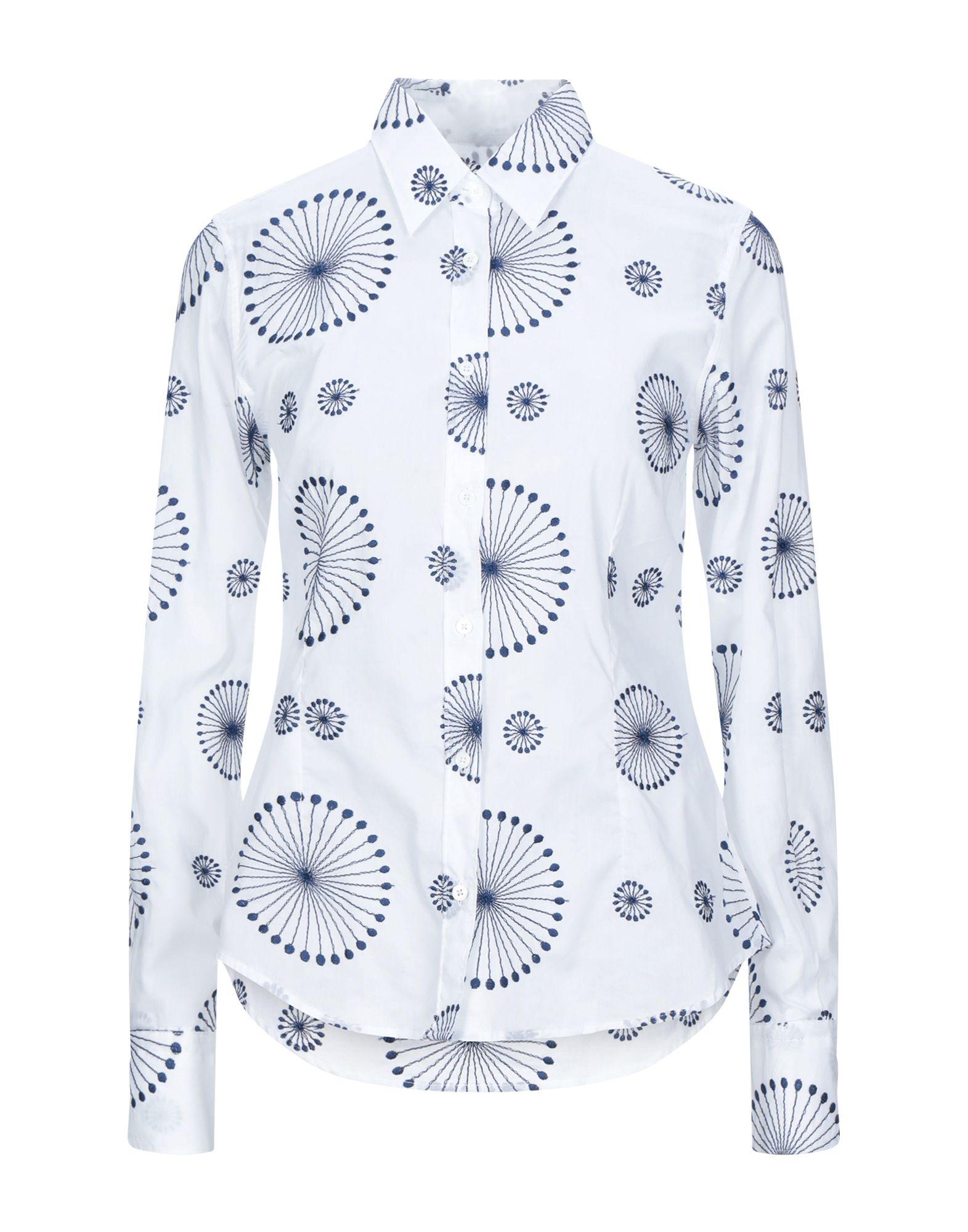 《セール開催中》CAMICETTASNOB レディース シャツ ホワイト 42 コットン 100%