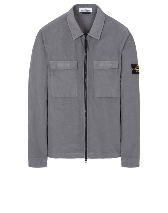 STONE ISLAND 11102 NASLAN LIGHT OVER SHIRT Man Blue Grey