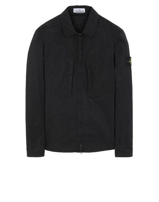 STONE ISLAND 10207 OVER SHIRT Man Black