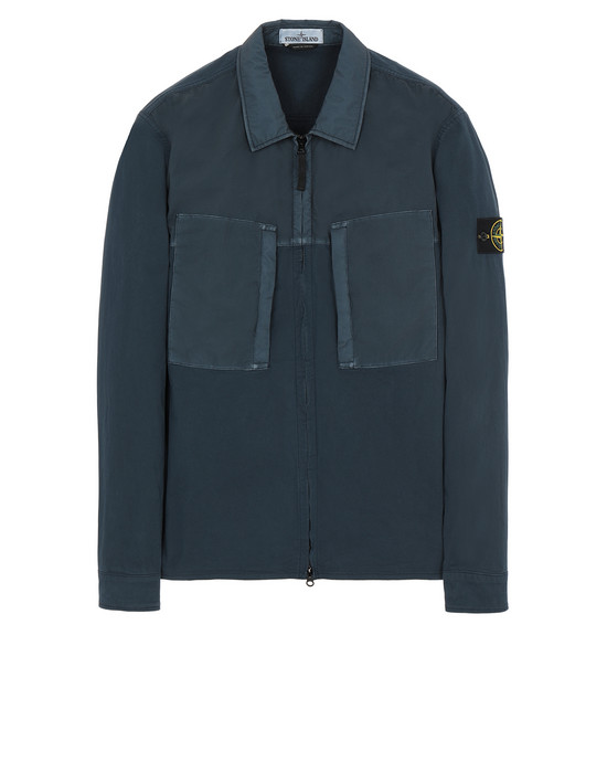 STONE ISLAND 10207 OVER SHIRT Man Marine Blue
