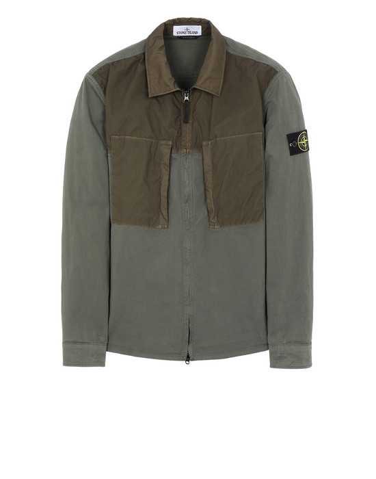 STONE ISLAND 10207 OVER SHIRT Man Olive Green