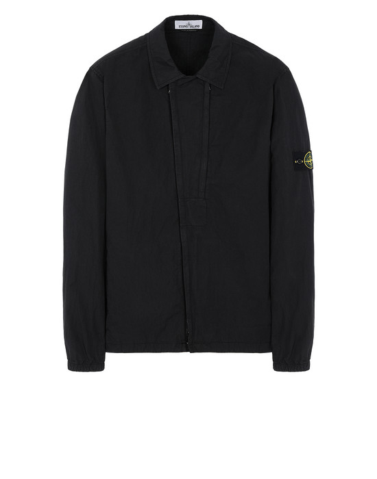 STONE ISLAND 10408 OVER SHIRT Man Black