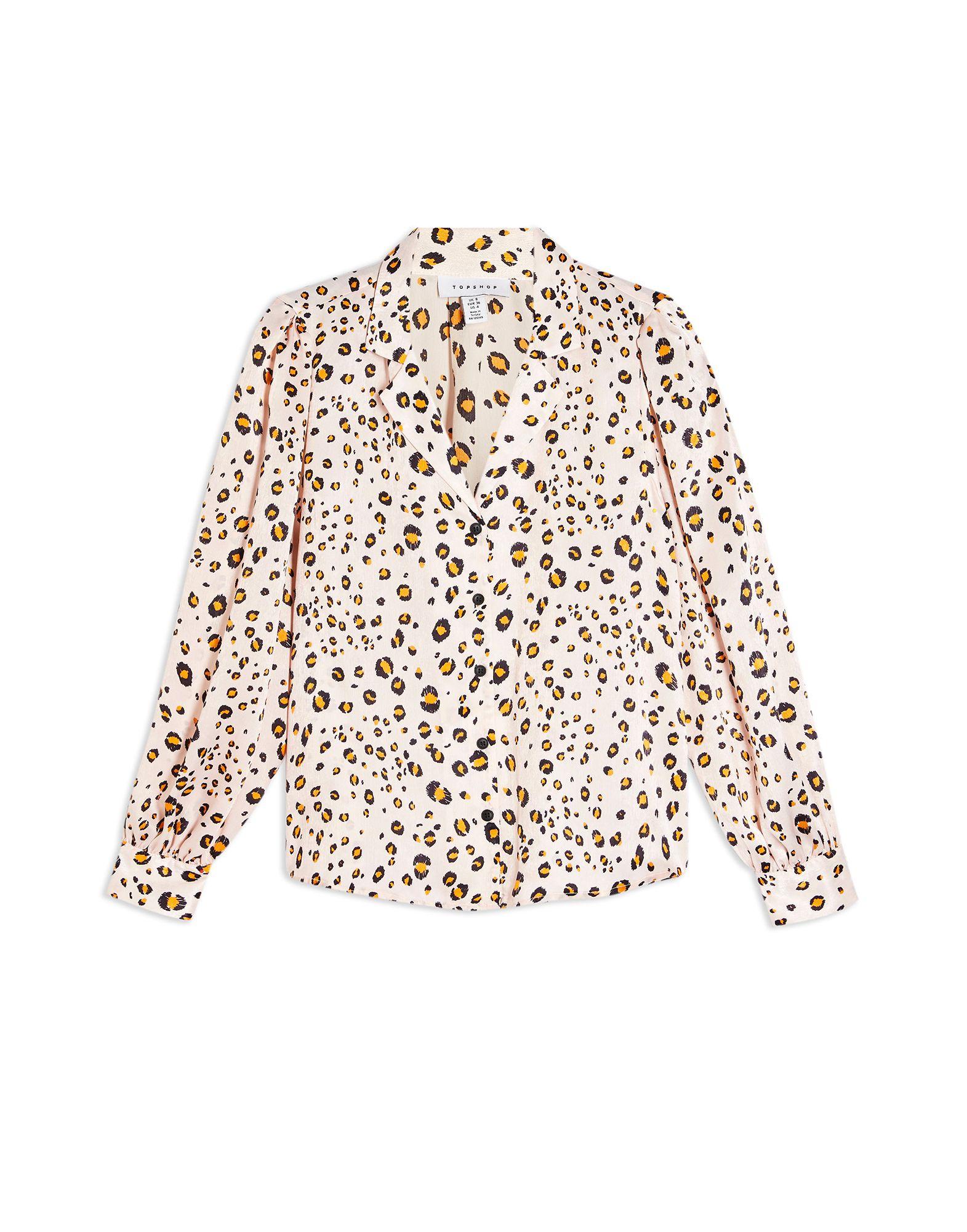 《セール開催中》TOPSHOP レディース シャツ ライトピンク 6 ポリエステル 100% GOLDEN ANIMAL PRINT SHIRT