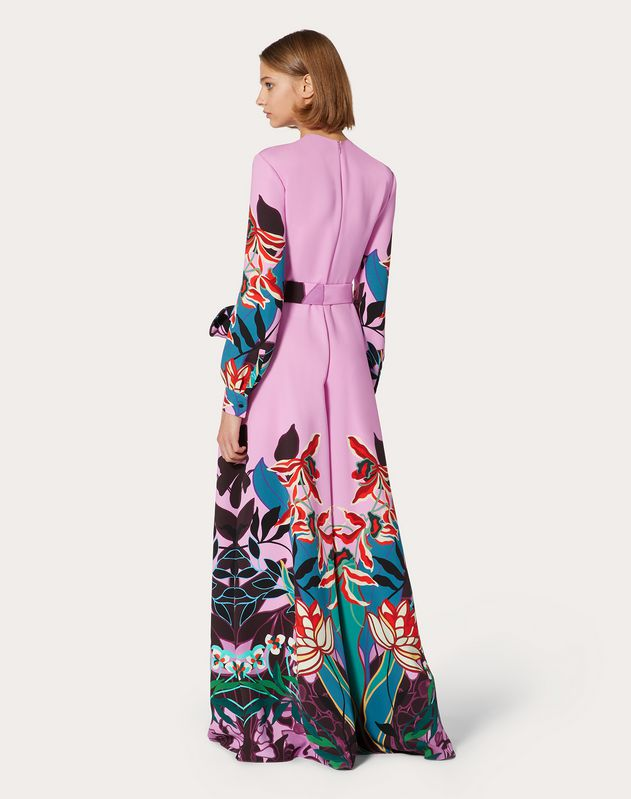 Printed Cady Jumpsuit