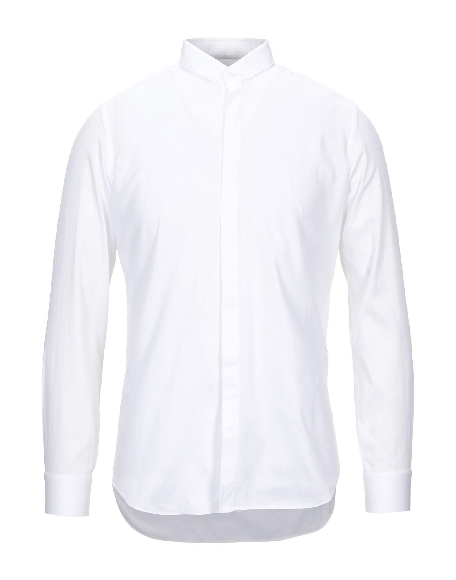 《セール開催中》PAL ZILERI CERIMONIA メンズ シャツ ホワイト 39 コットン 100%