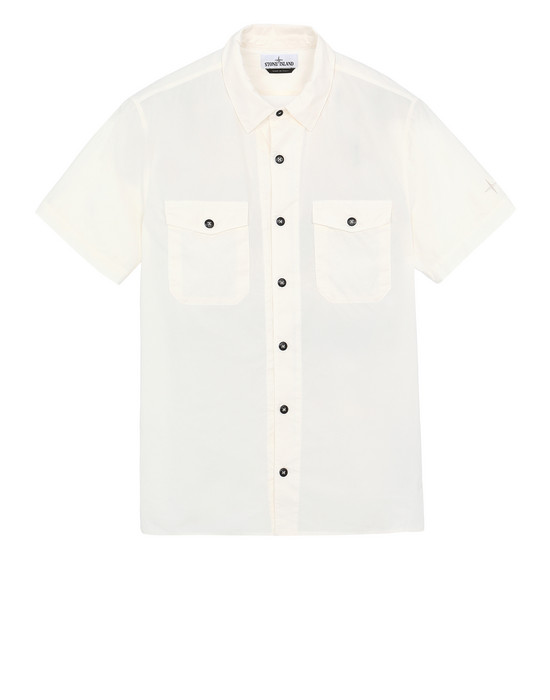 STONE ISLAND 12710 Short sleeve shirt Man Ivory