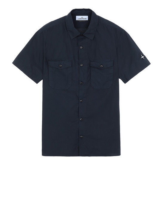 STONE ISLAND 12710 Short sleeve shirt Man Dark blue