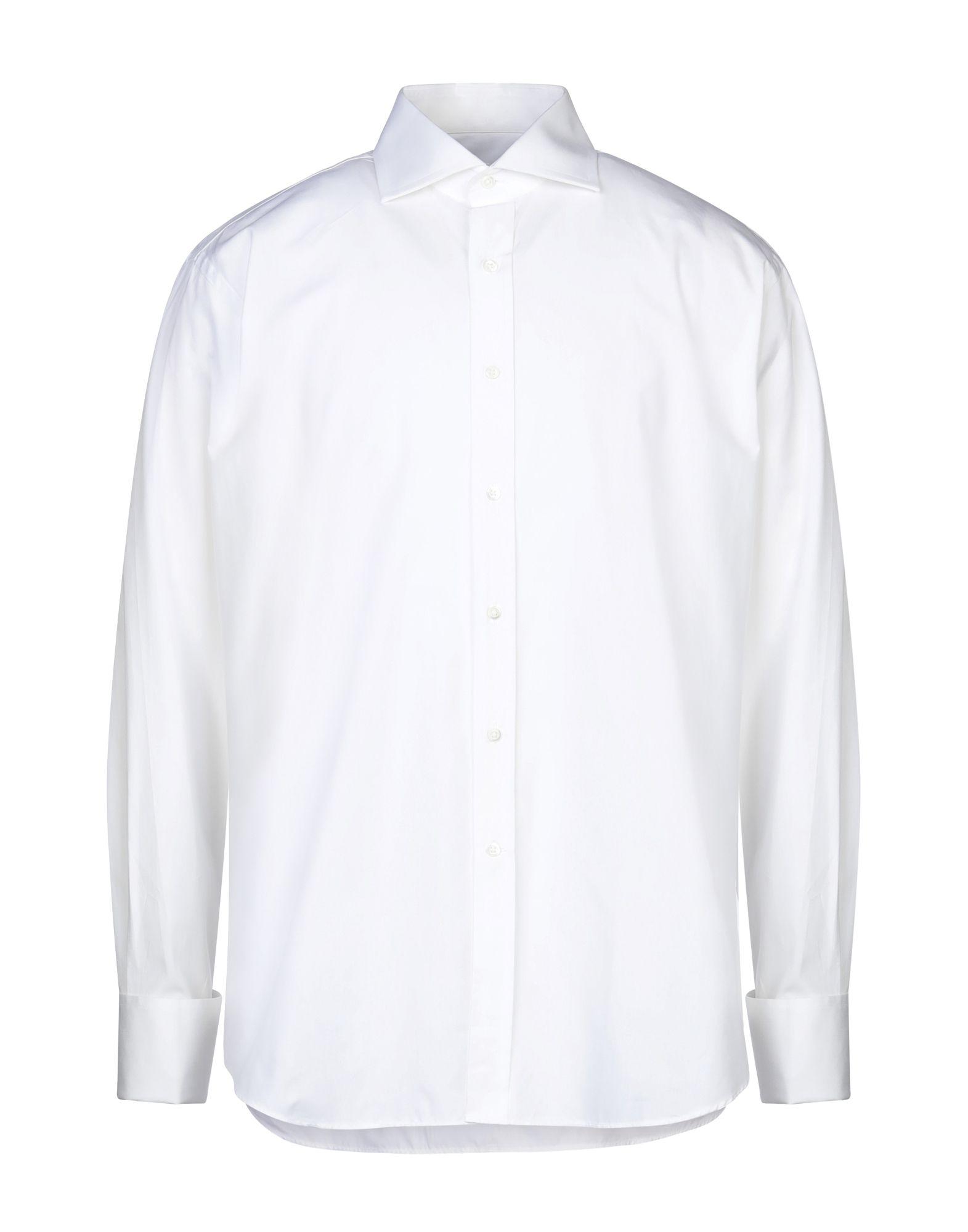 《セール開催中》CIT LUXURY メンズ シャツ ホワイト 43 コットン 100%