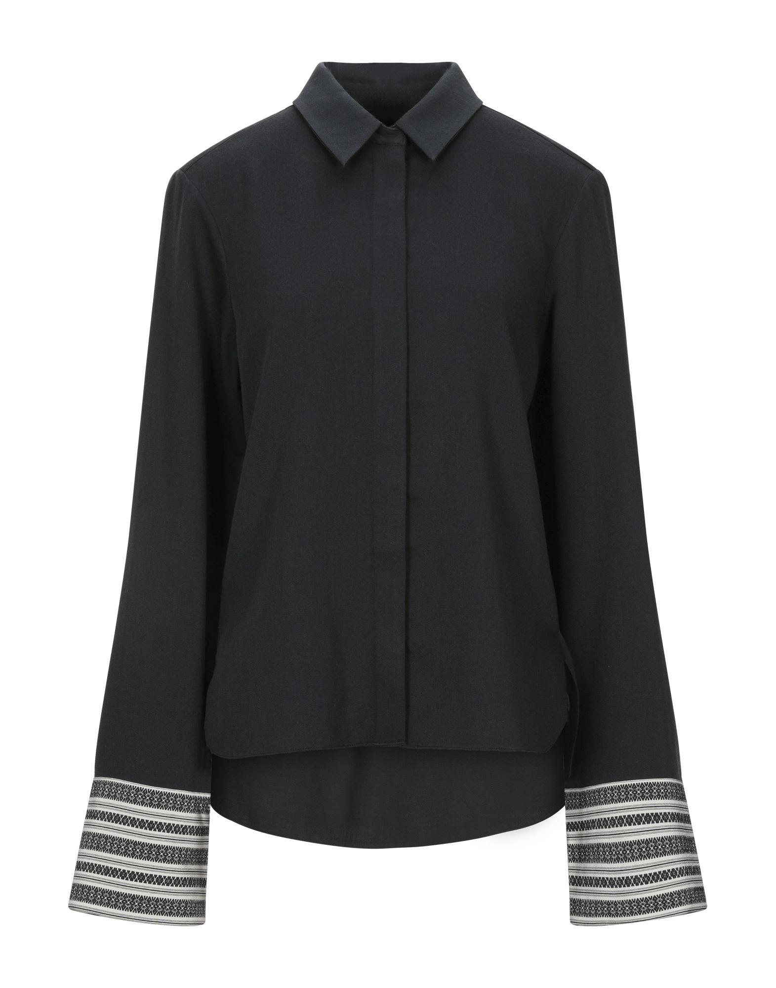 《セール開催中》NOON BY NOOR レディース シャツ ブラック 8 ウール 100%