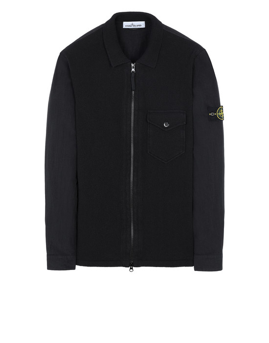 STONE ISLAND 101DD OVER SHIRT Man Black