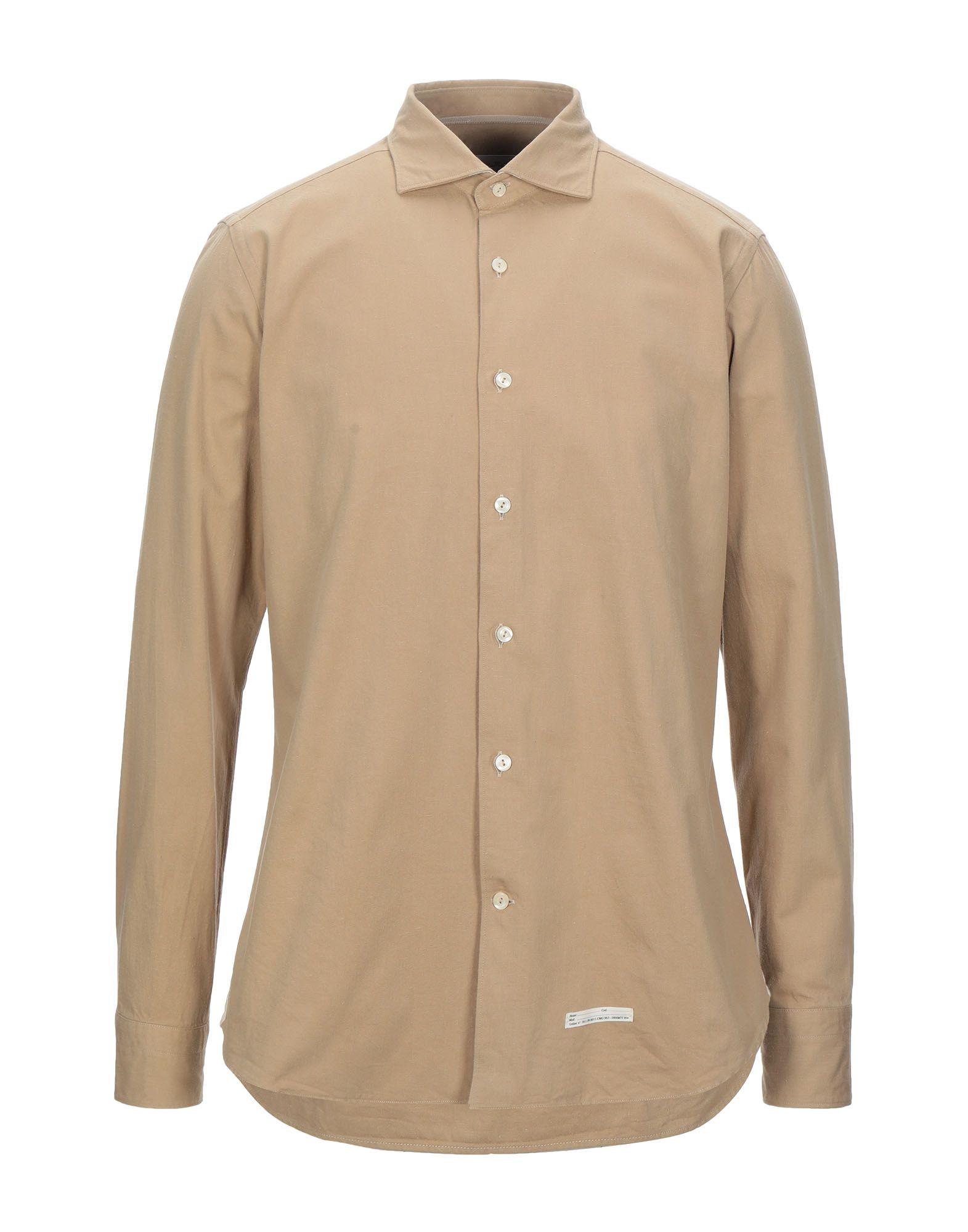 《セール開催中》TINTORIA MATTEI 954 メンズ シャツ サンド 41 コットン 100%