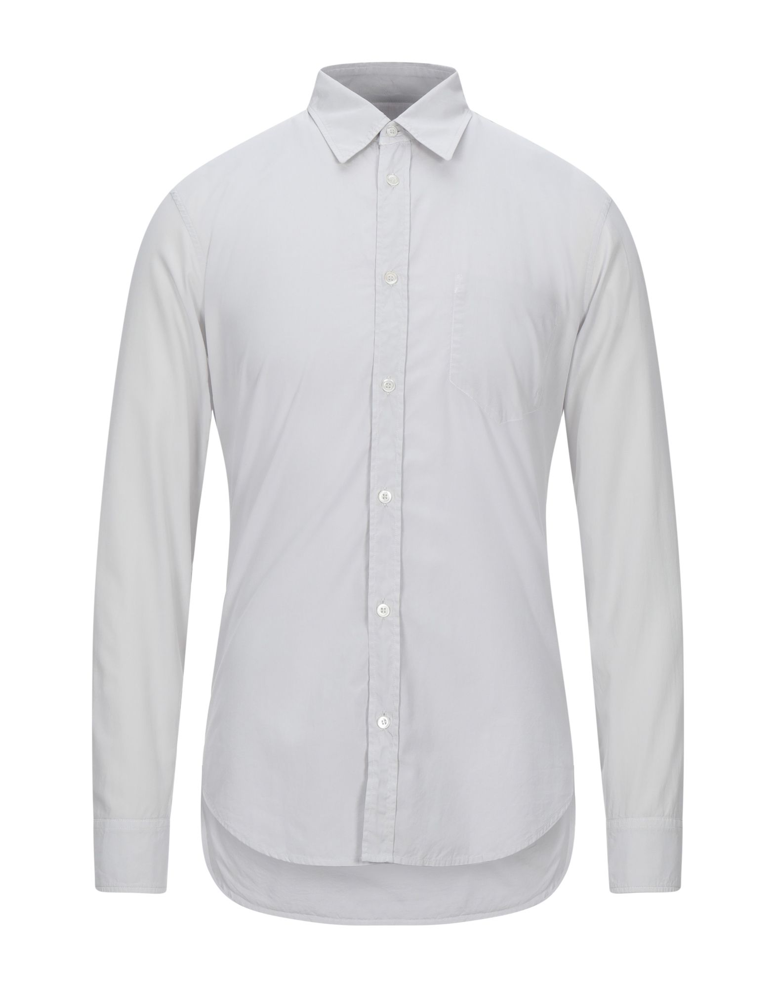 MAISON MARGIELA Shirts. poplin, stitching, basic solid color, front closure, button closing, long sleeves, classic neckline, no pockets, contains non-textile parts of animal origin. 100% Cotton
