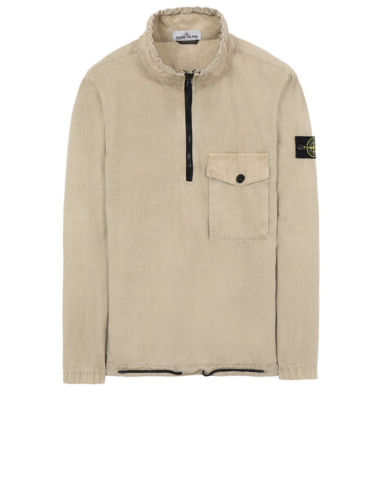 STONE ISLAND 113WN T.CO+OLD OVER SHIRT Man Dark Beige