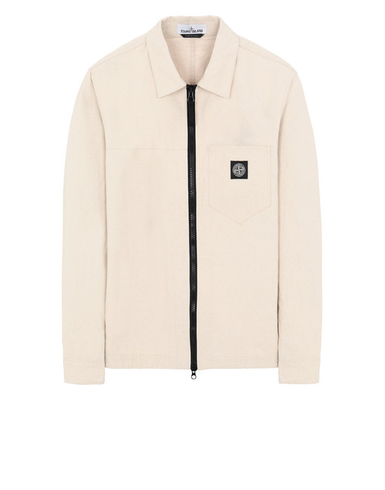 STONE ISLAND 106J1 PANAMA PLACCATO OVER SHIRT Man Beige