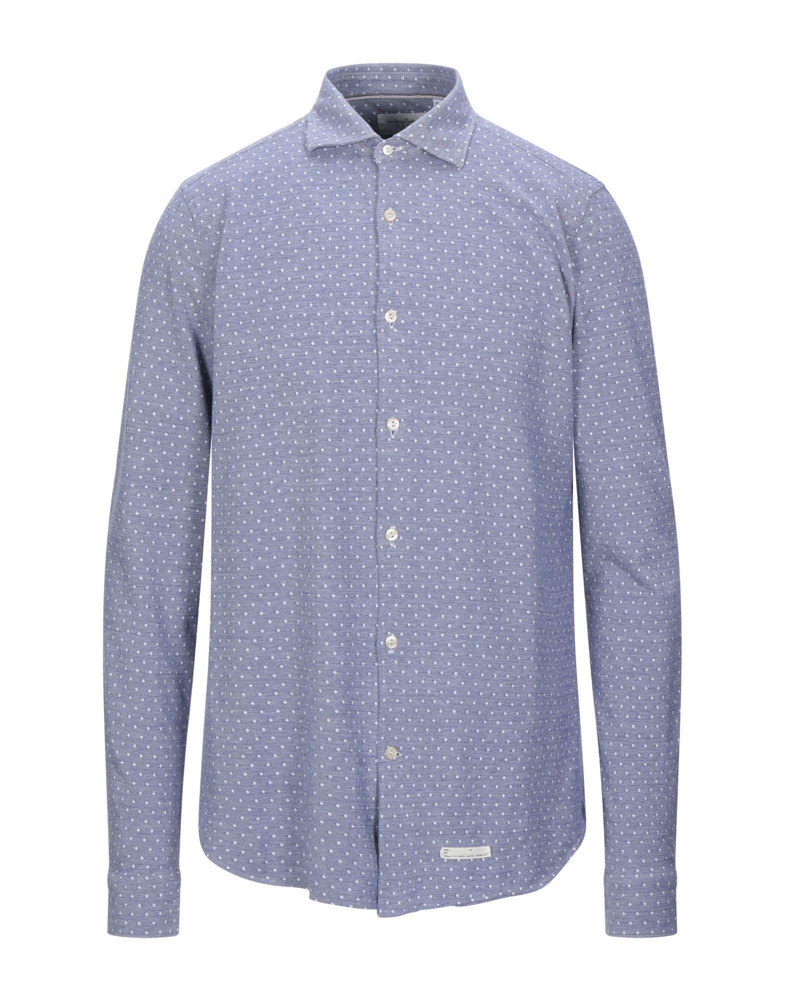 《セール開催中》TINTORIA MATTEI 954 メンズ シャツ ブルー 41 コットン 100%