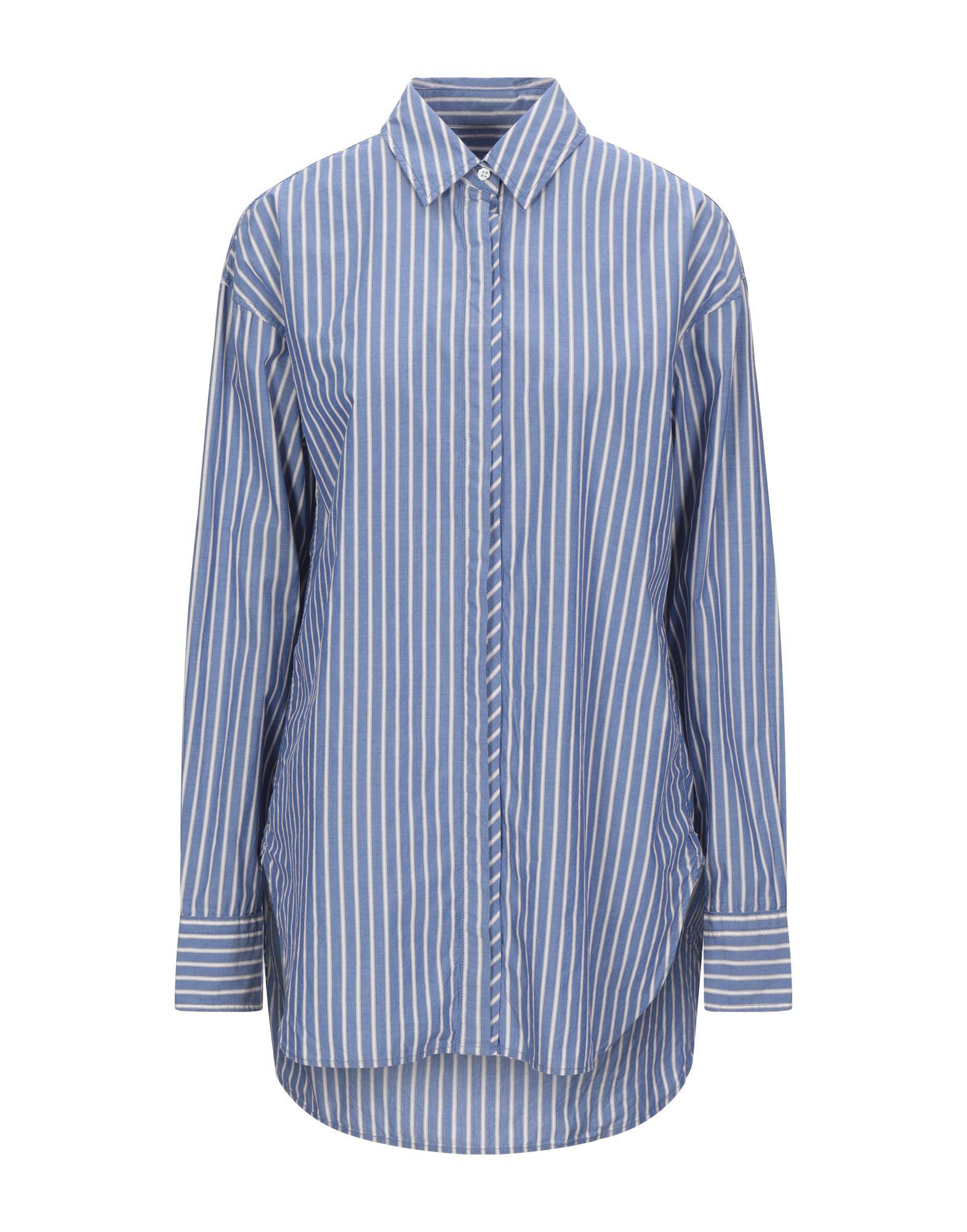 《セール開催中》RAG &BONE レディース シャツ ブルー M コットン 90% / シルク 10%