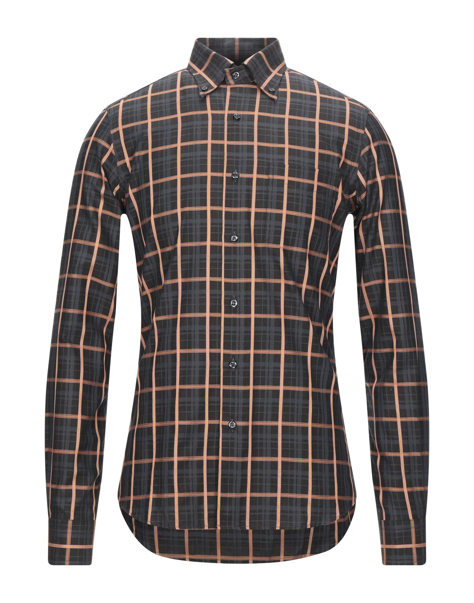《セール開催中》ROCCOBAROCCO メンズ シャツ ブラック S コットン 100%