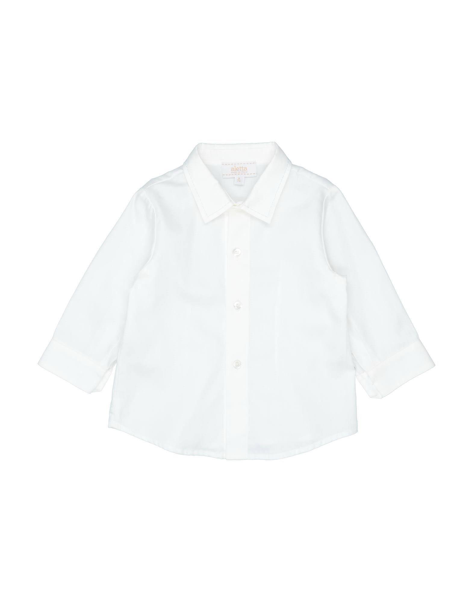 《セール開催中》ALETTA ボーイズ 0-24 ヶ月 シャツ ホワイト 9 コットン 100%