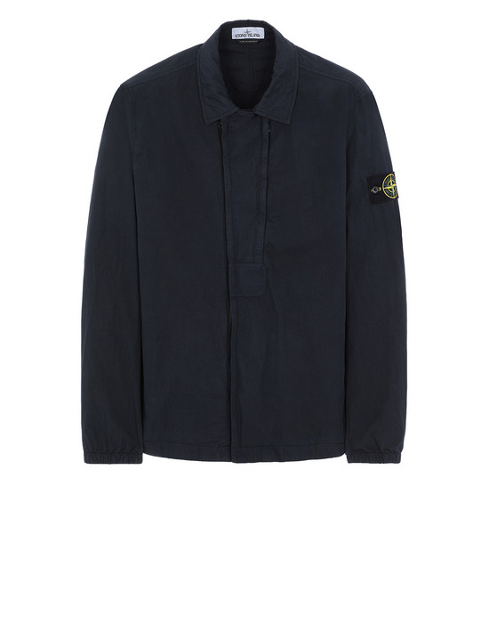 STONE ISLAND 10408 OVER SHIRT Man Blue