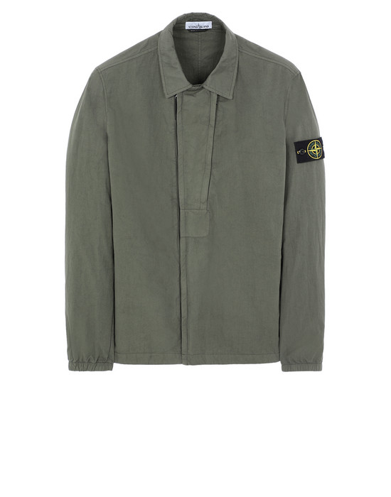 STONE ISLAND 10408 OVER SHIRT Man Olive Green