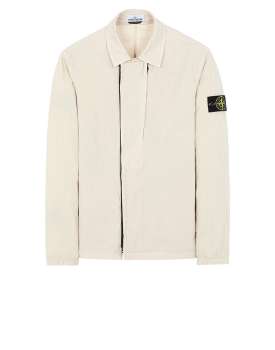 STONE ISLAND 10408 OVER SHIRT Man Beige