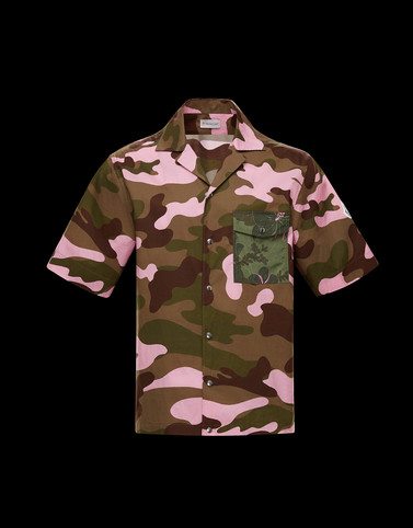 SHIRT Military green Category Short-sleeved shirts Man