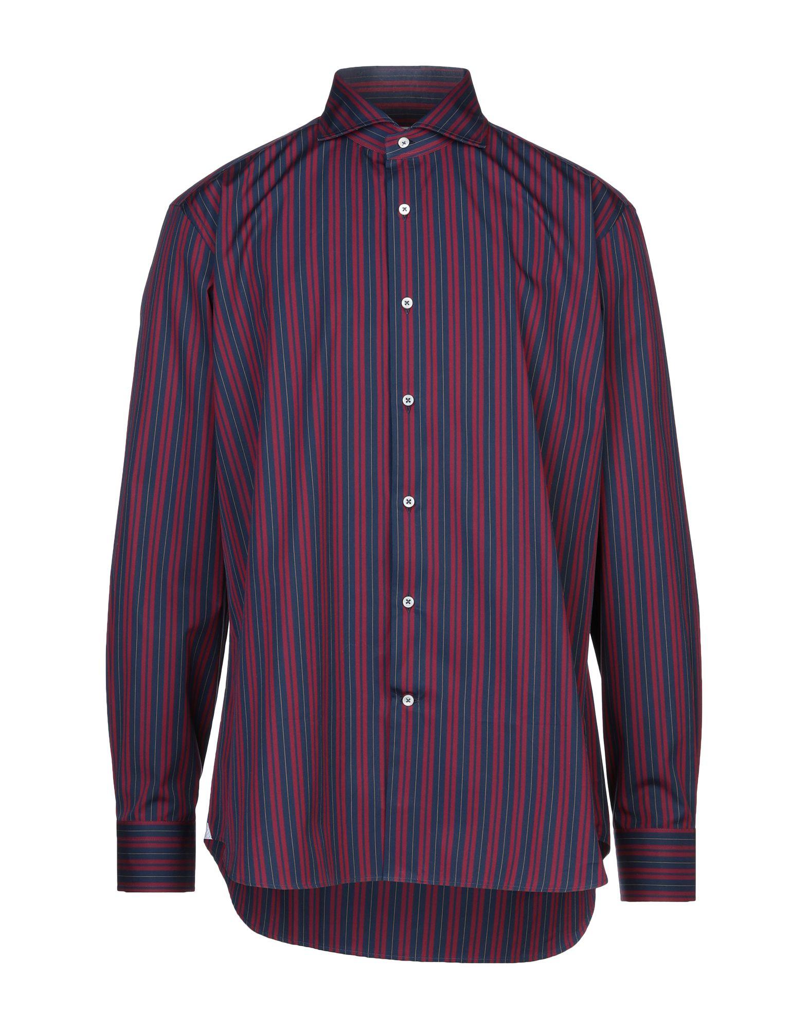 《セール開催中》LABORATORIO DEL CARMINE メンズ シャツ ダークブルー one size コットン 100%