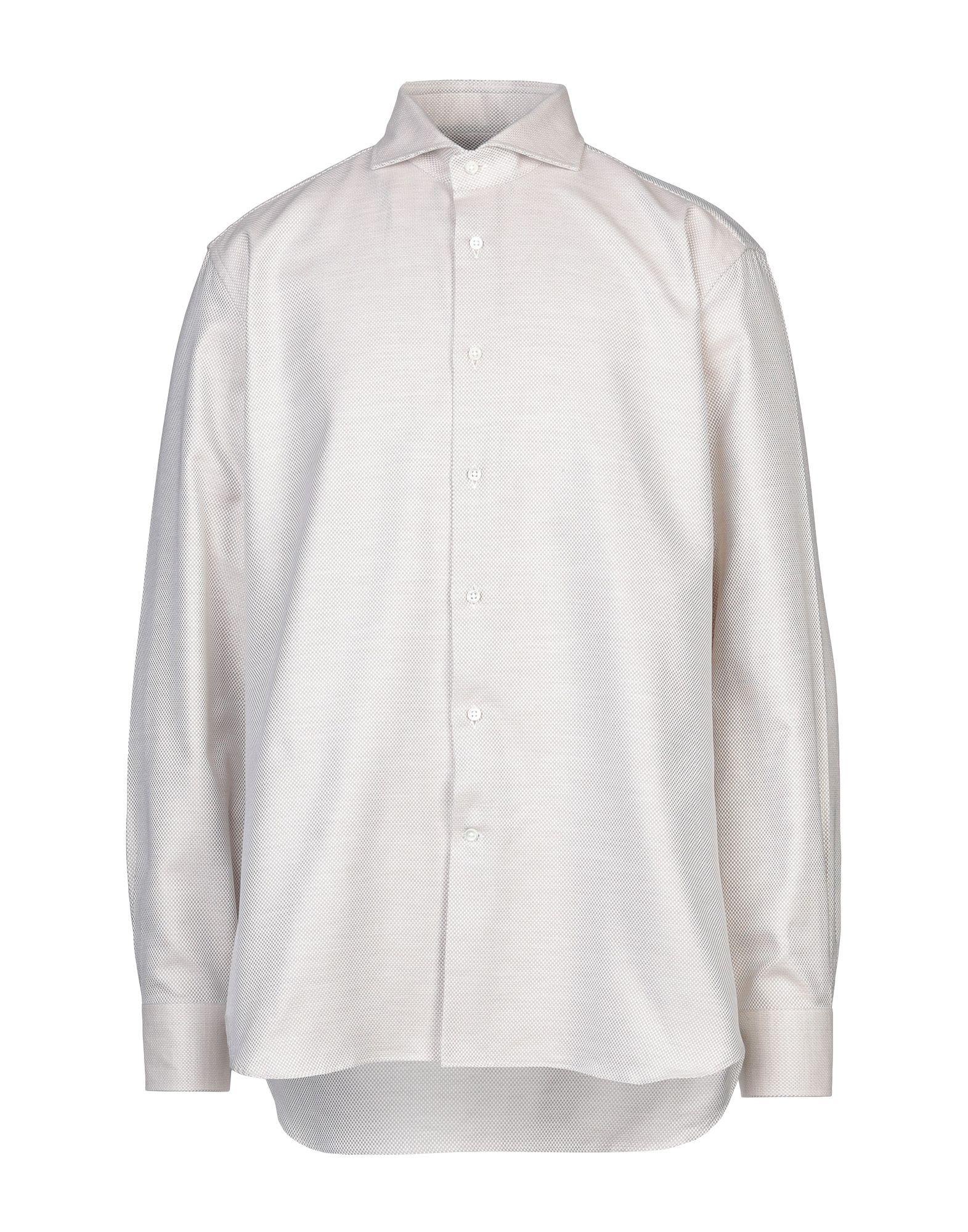 《セール開催中》LABORATORIO DEL CARMINE メンズ シャツ ベージュ one size コットン 100%