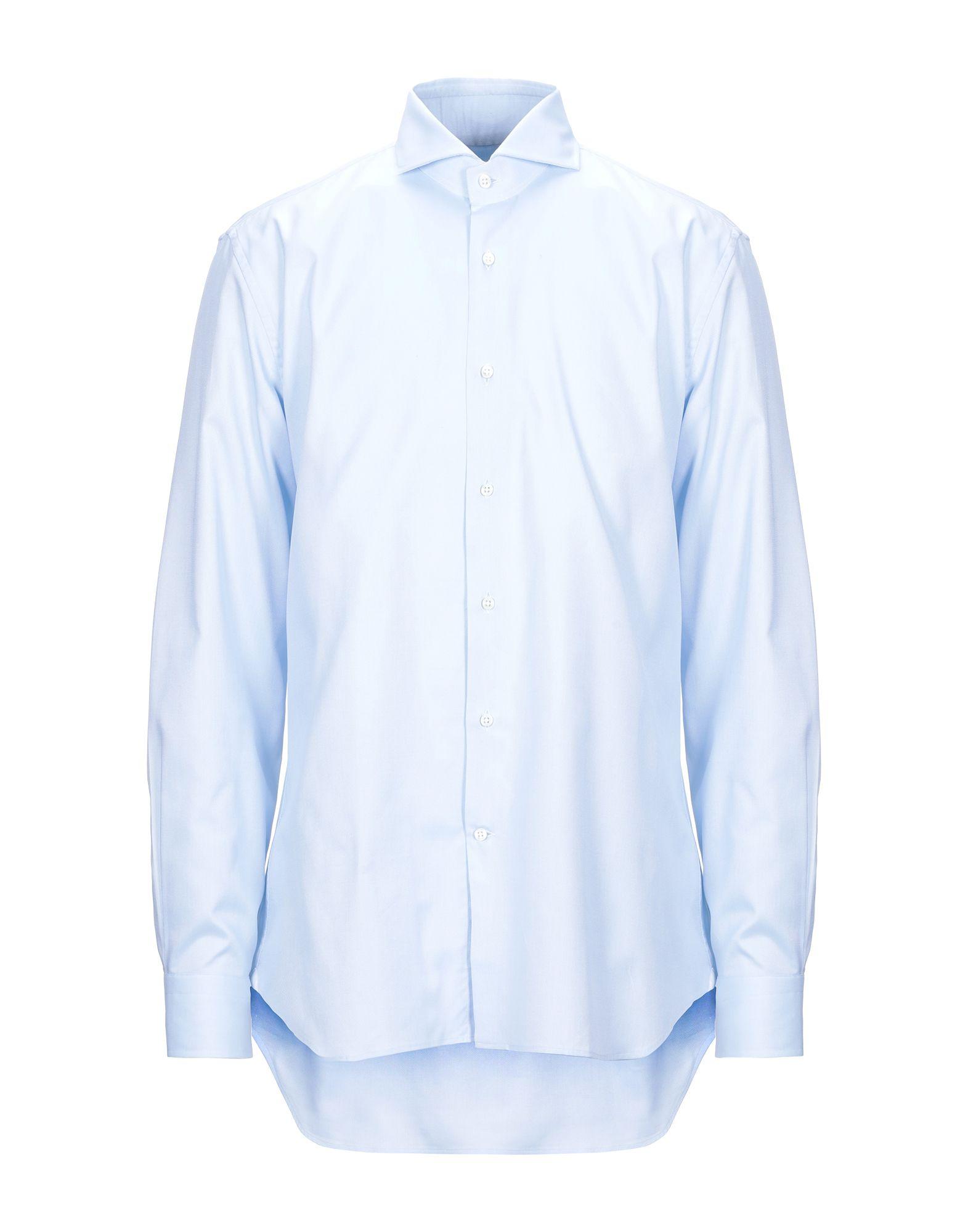 《セール開催中》LABORATORIO DEL CARMINE メンズ シャツ スカイブルー one size コットン 100%