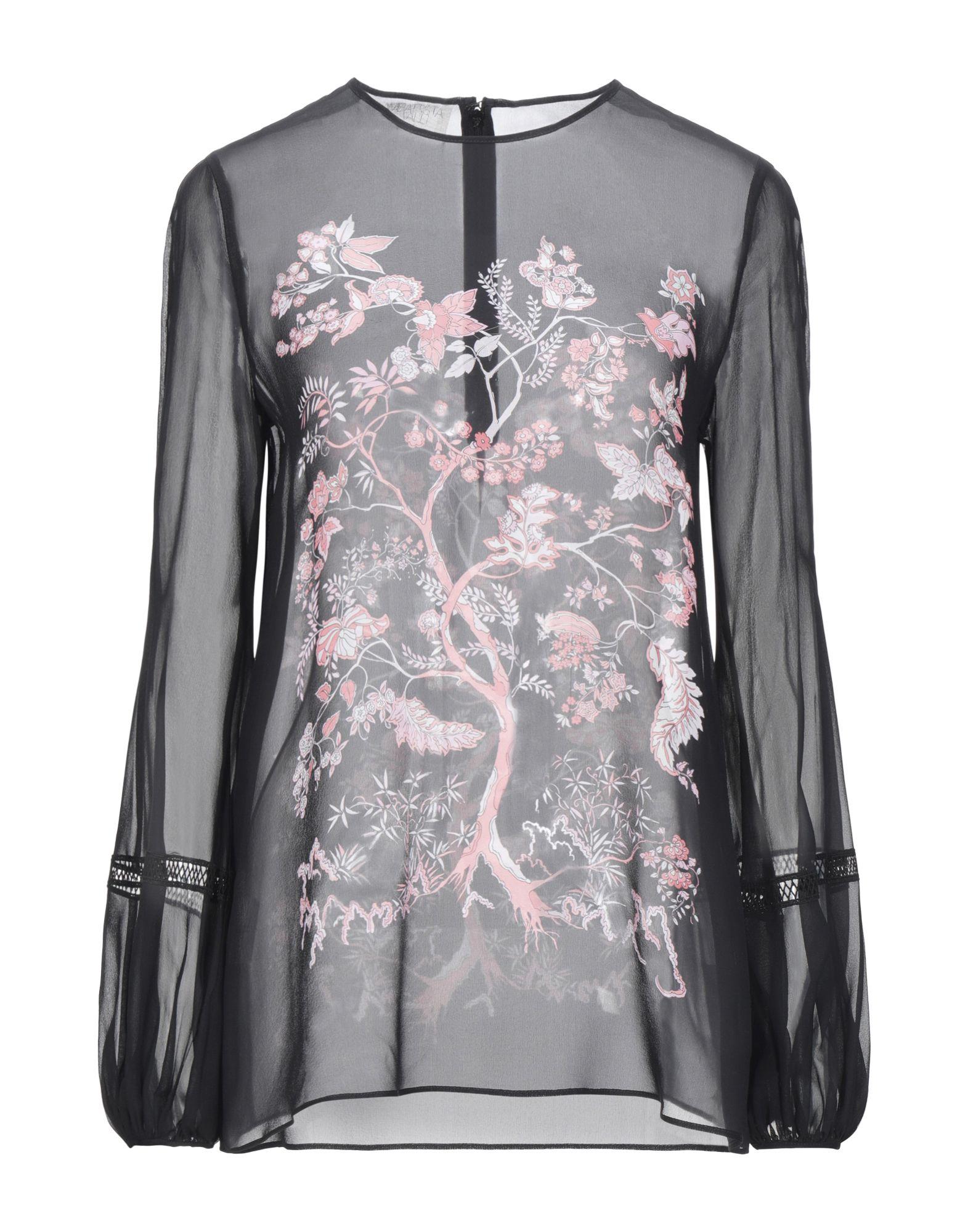 GIAMBATTISTA VALLI Блузка шифоновая блузка в цветочный принт
