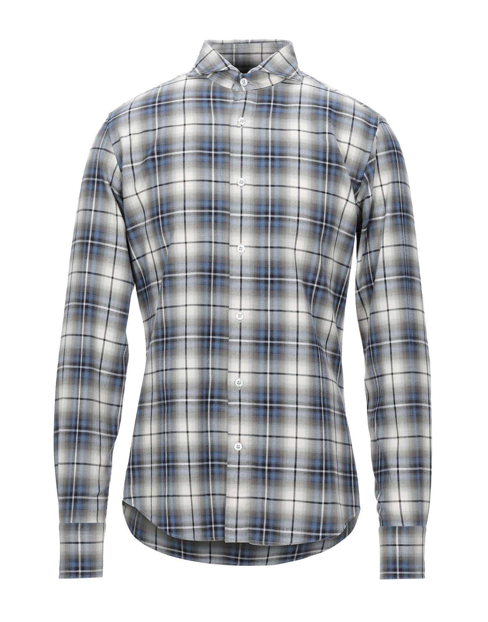 《セール開催中》LABORATORIO DEL CARMINE メンズ シャツ ブルー 40 コットン 100%