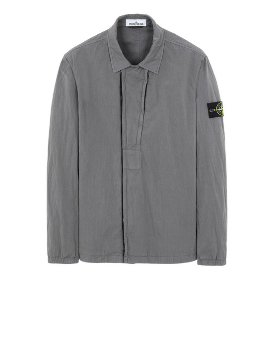 STONE ISLAND 10408 OVER SHIRT Man Blue Grey