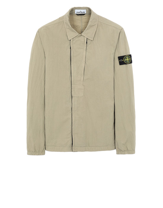 STONE ISLAND 10408 OVER SHIRT Man Dark Beige