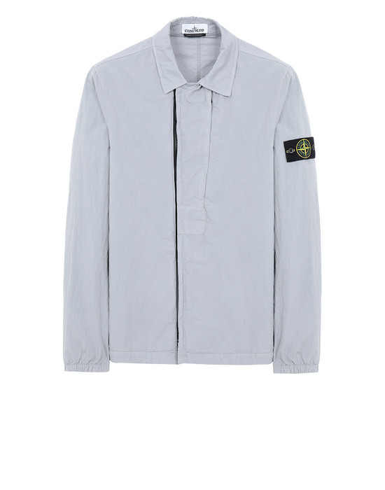 STONE ISLAND 10408 OVER SHIRT Man Dust Grey