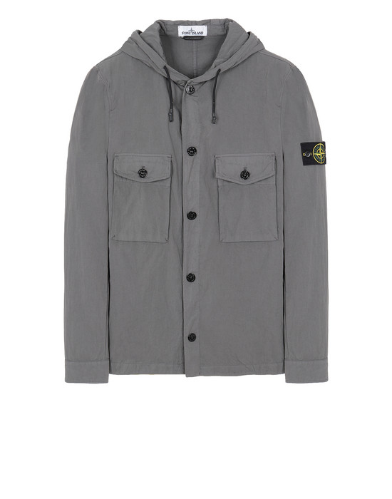 STONE ISLAND 12408 OVER SHIRT Man Blue Grey