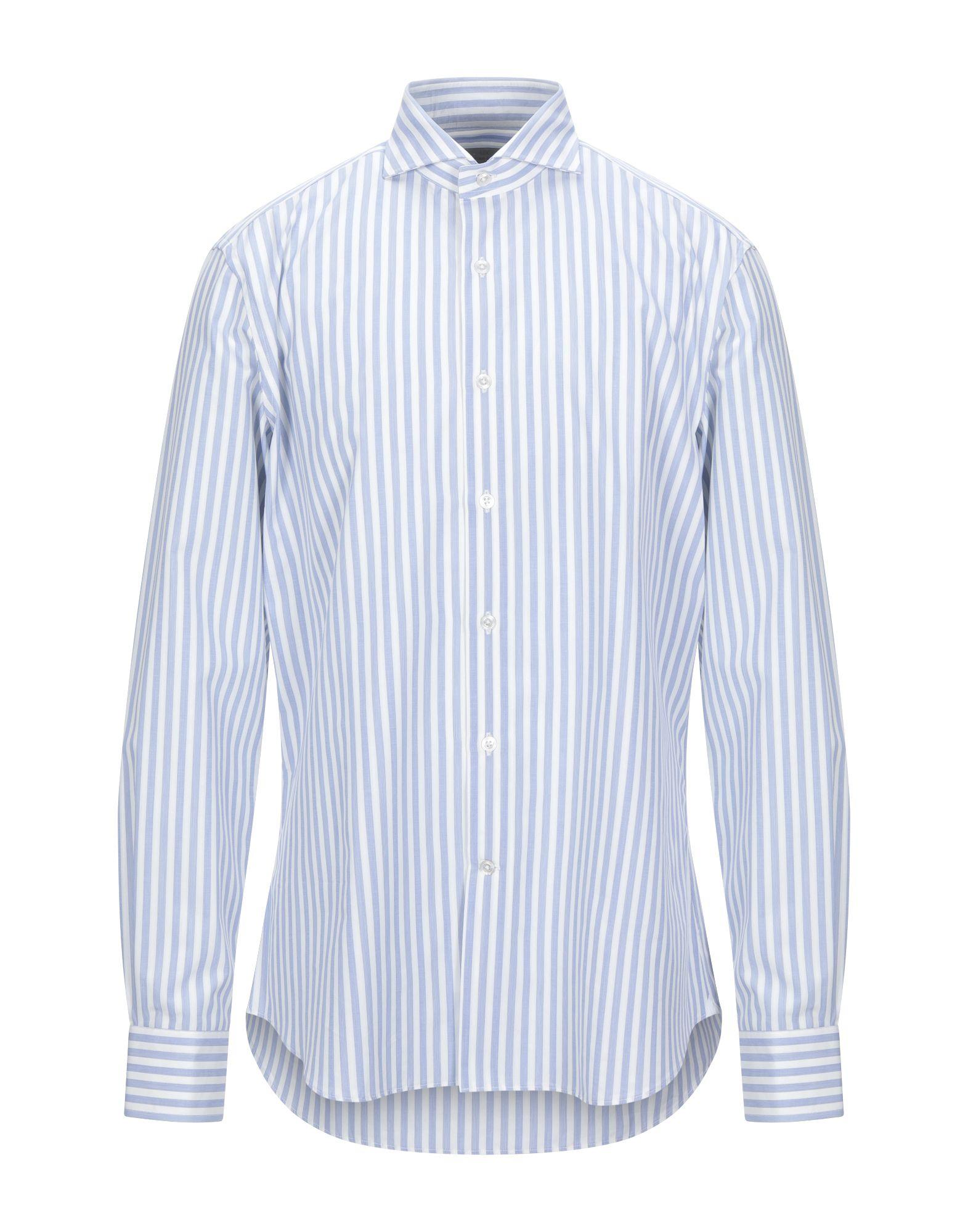 《セール開催中》LABORATORIO DEL CARMINE メンズ シャツ アジュールブルー 44 コットン 100%