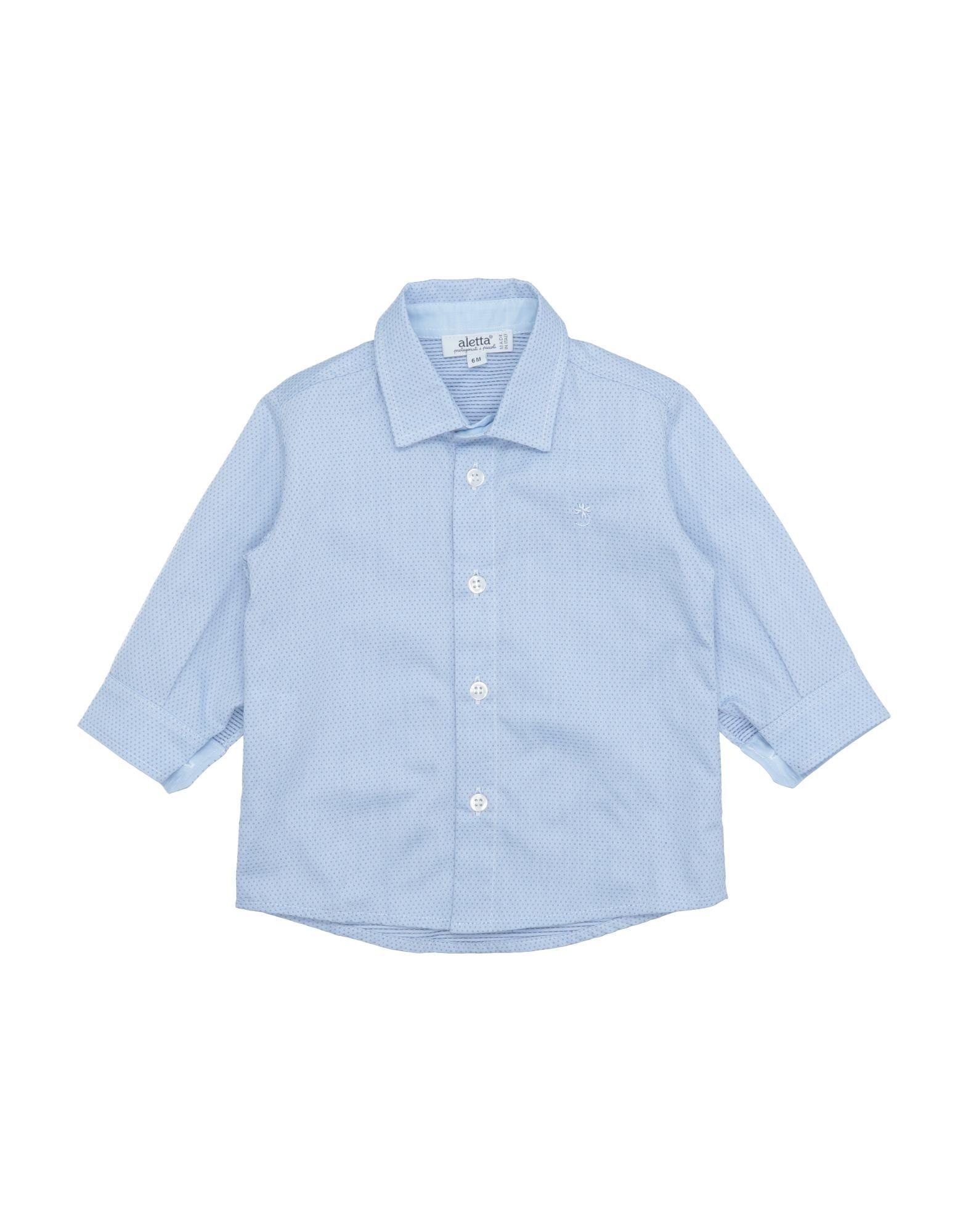 《セール開催中》ALETTA ボーイズ 0-24 ヶ月 シャツ スカイブルー 6 コットン 100%