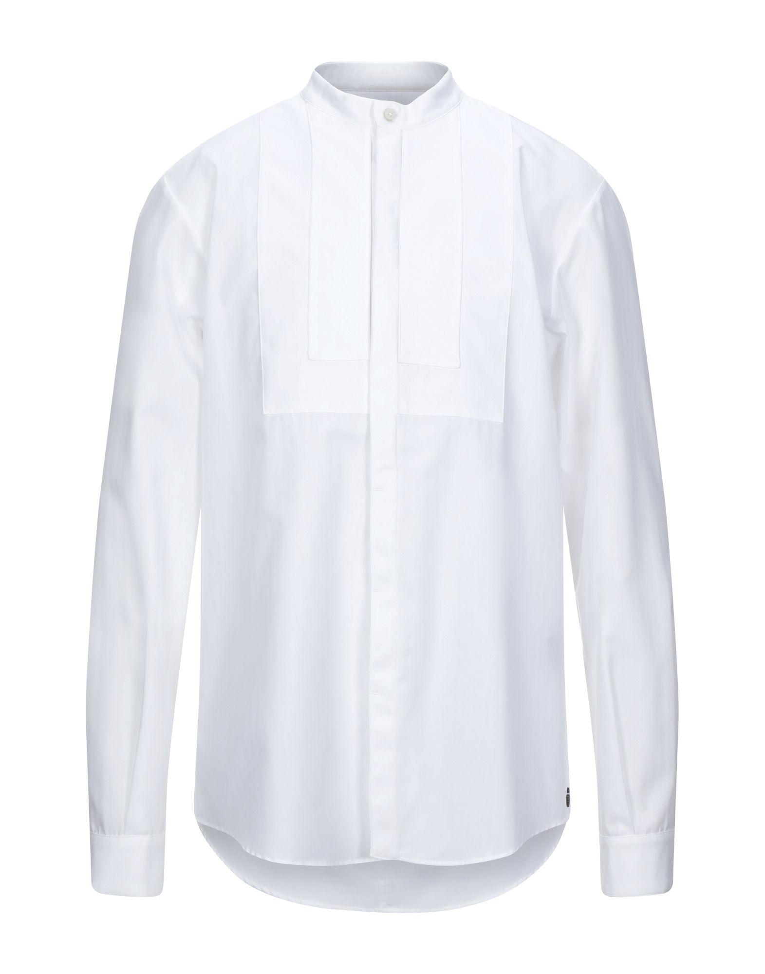 《セール開催中》NOSTRASANTISSIMA メンズ シャツ ホワイト 46 コットン 100%