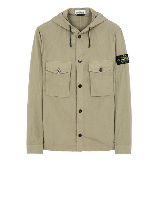 STONE ISLAND 12408 OVER SHIRT Man Dark Beige