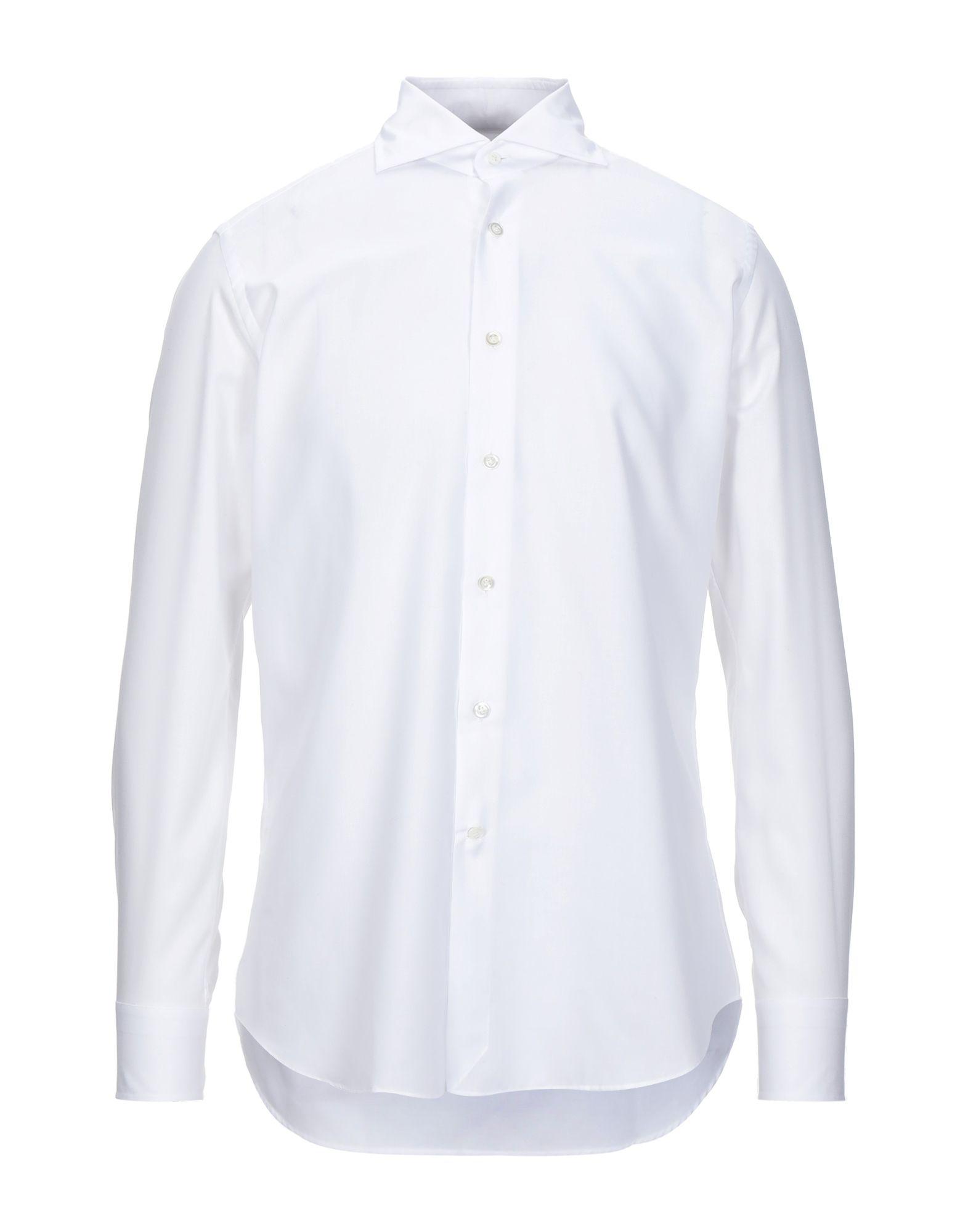 《セール開催中》ANDREA ZENI メンズ シャツ ホワイト 38 コットン 100%