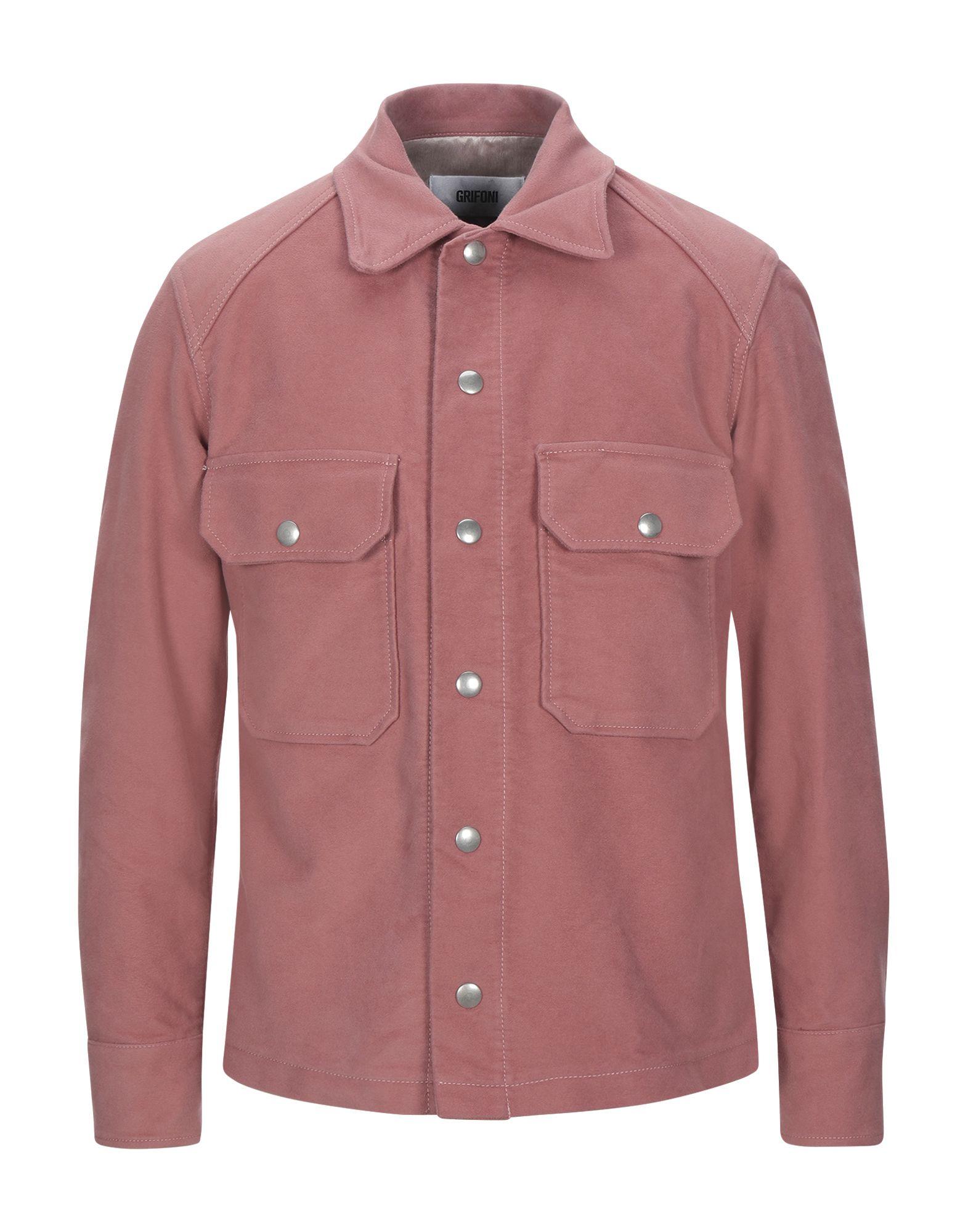 《セール開催中》MAURO GRIFONI メンズ シャツ パステルピンク 48 コットン 100%