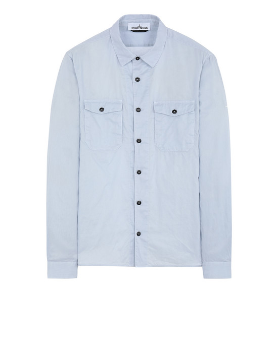 STONE ISLAND 12015 Long sleeve shirt Man Sky Blue