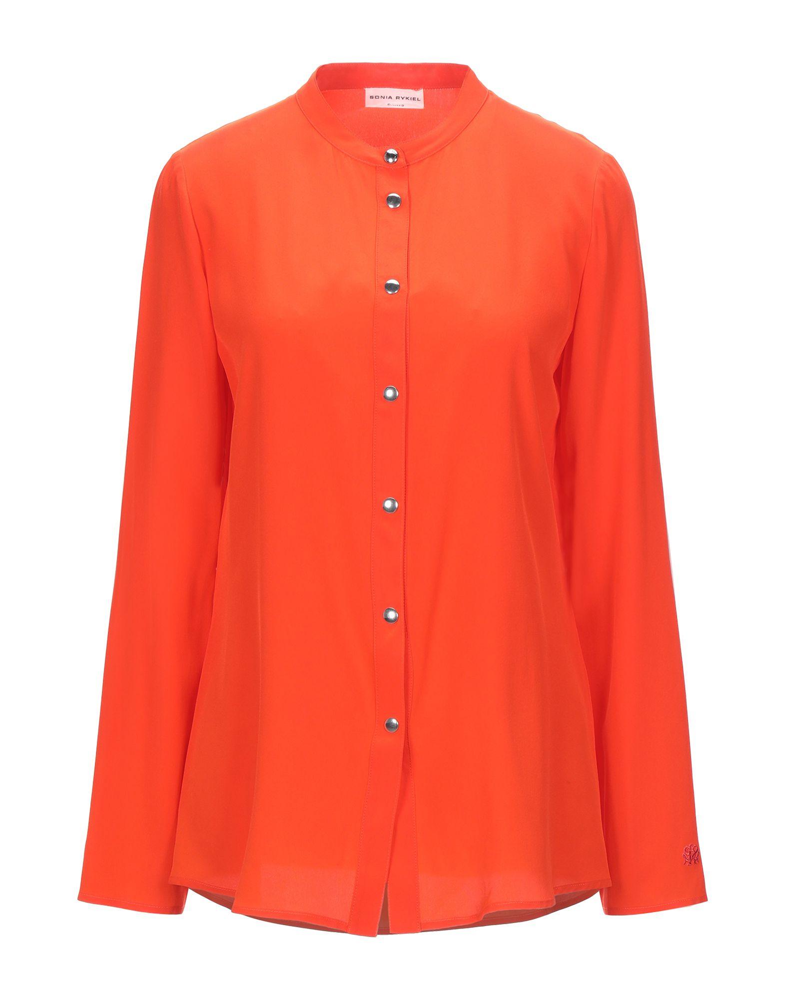 《セール開催中》SONIA RYKIEL レディース シャツ オレンジ 38 シルク 100%
