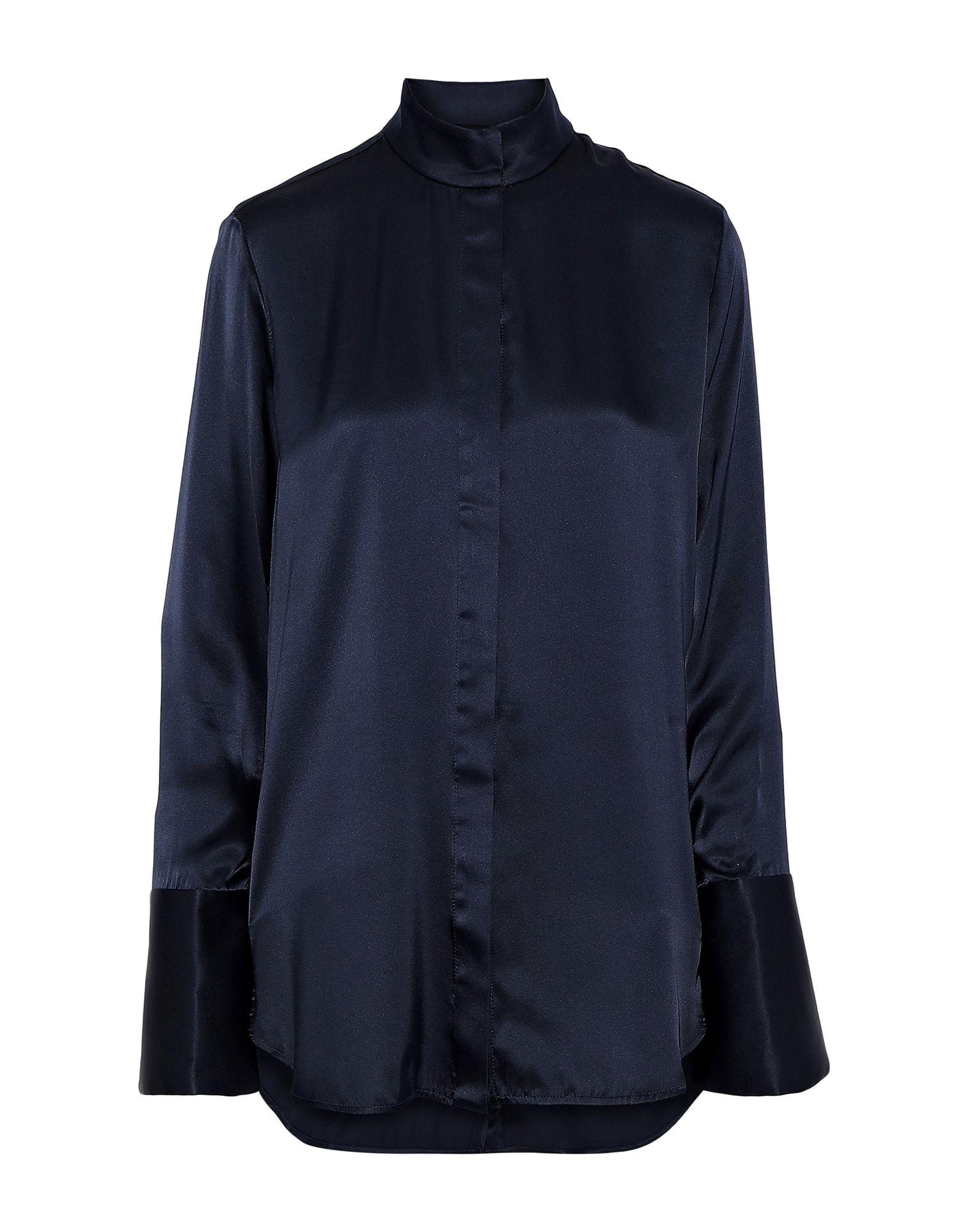 《セール開催中》ELLERY レディース シャツ ダークブルー 8 シルク 100%