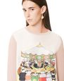 LANVIN Top Woman ROUND NECK SWEATER WITH CONTRASTING FRONT PRINTED SILK PANEL f