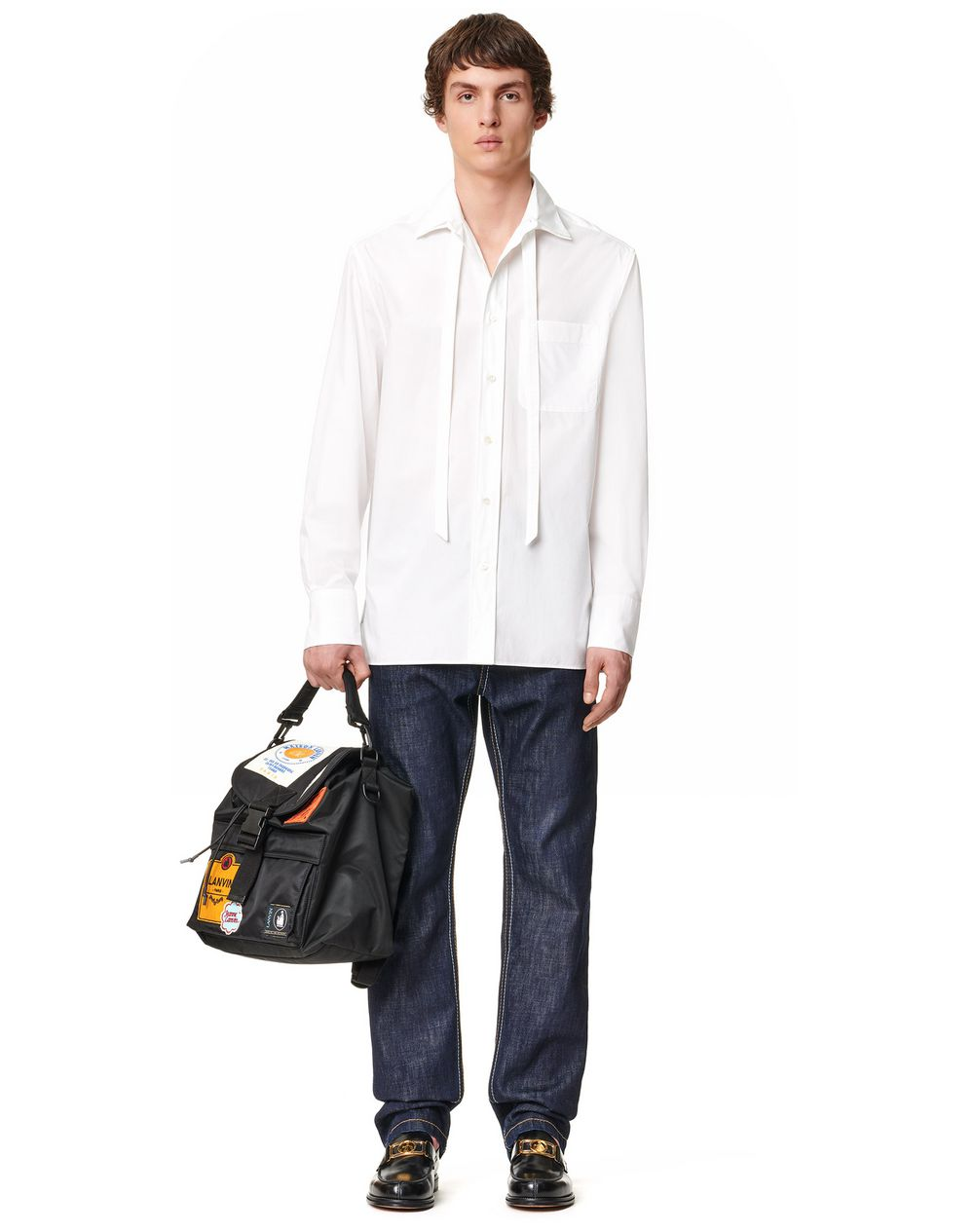 OVERSIZED SHIRT REMOVABLE COLLAR - Lanvin